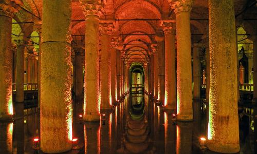 basilica cistern in istanbul turkey