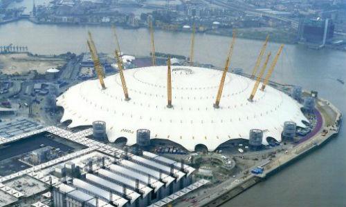 Millennium Dome Aerial View